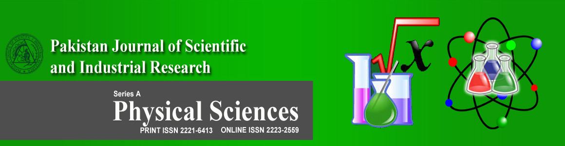 Pakistan Journal of Scientific & Industrial Research - Physical Sciences
